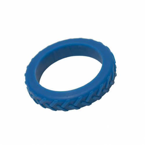 Tread Bangle (Teen / Young Adult) - 'Wheel Spin' - Blue Tyre